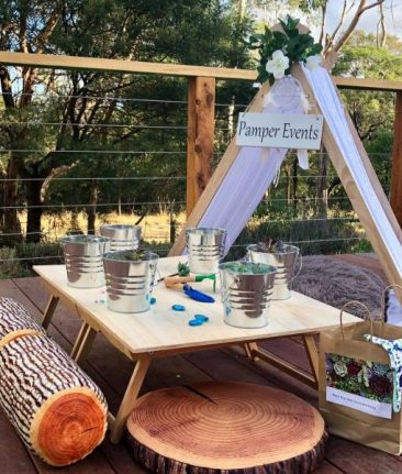 Teepee kids parties mornington
