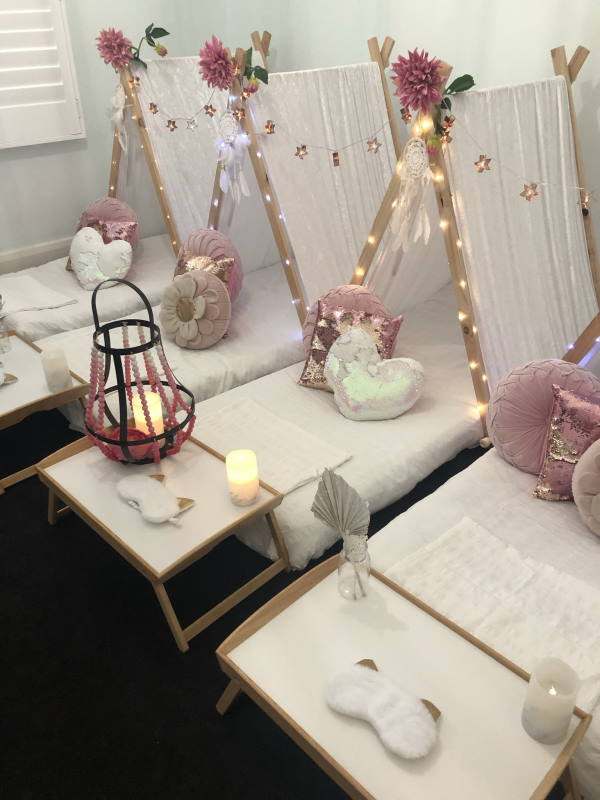 Pamper teepee party