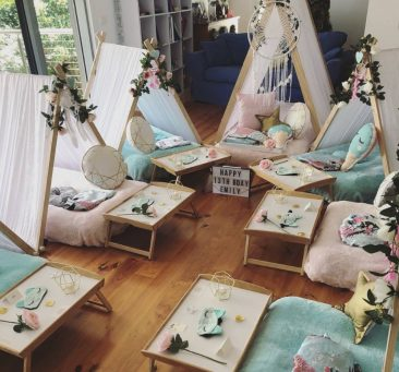Teepee Parties setup designs