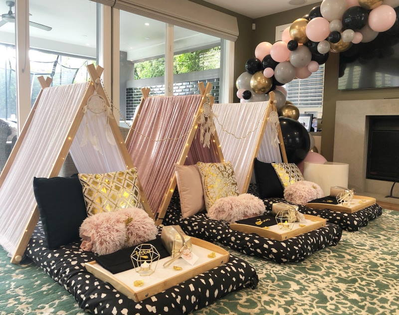 pamper events teepee party